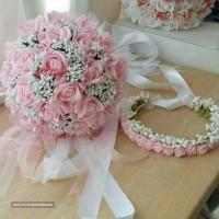 زیباترین مدل های دسته گل و تاج گل طبیعی و مصنوعی عروس  - گلفروشی یاشیل